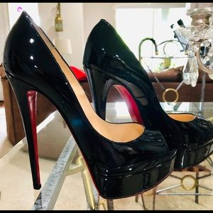 Lady Peep 150 Black Patent 38 1/2-extra's included